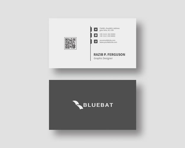 Minimalist business card design template