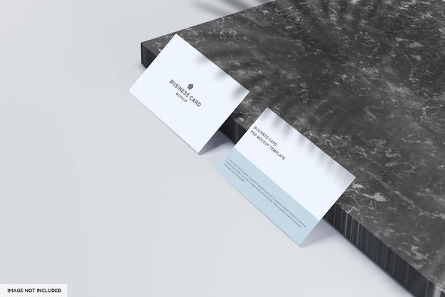 Minimalist business card mockup design