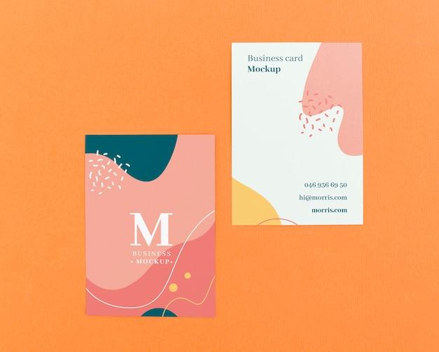 Минималистский макет визитки