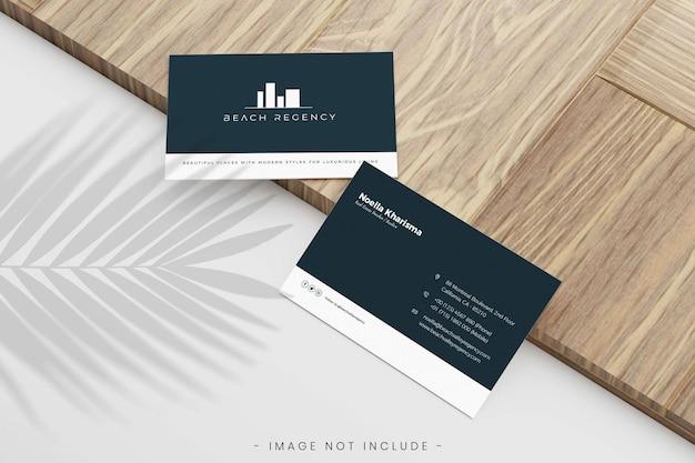Минималистский макет визитной карточки
