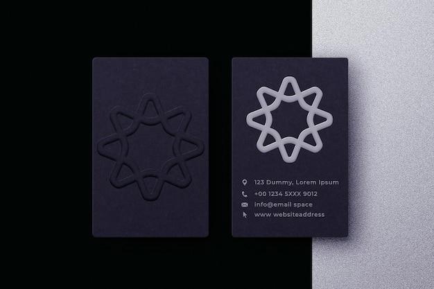 Minimalist business card with logo mockup premium psd
