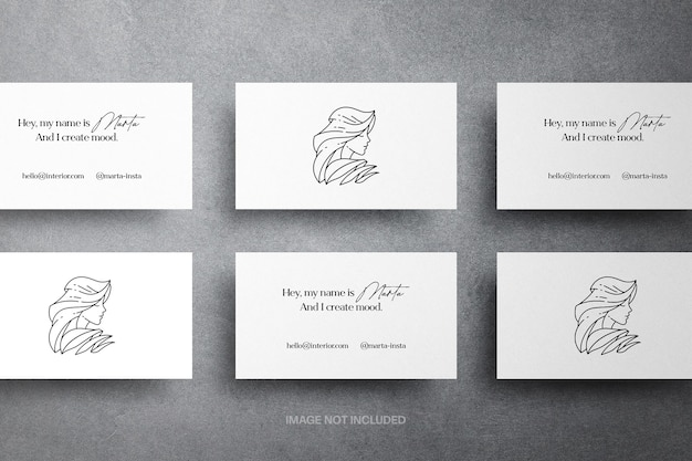 Minimalist business cards mockup
