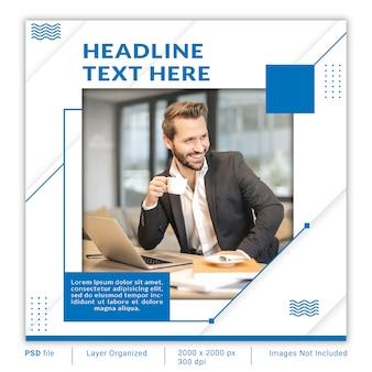 Minimalist business corporate banner design template psd