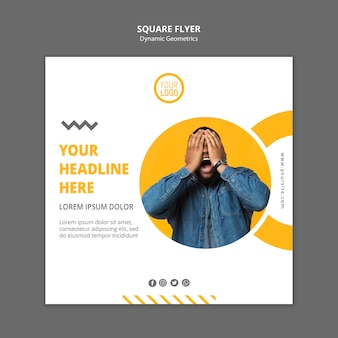 Minimalist business square flyer template