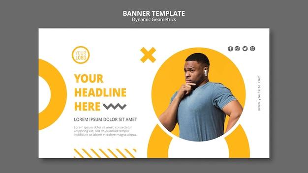 Minimalist business template banner