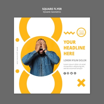 Minimalist business template square flyer