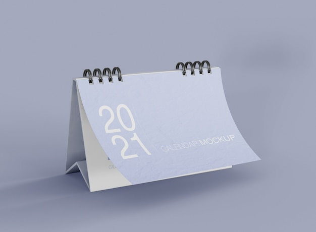 Minimalist calendar mockup