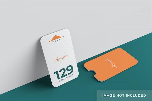 Минималистский макет карты и держателя Premium Psd