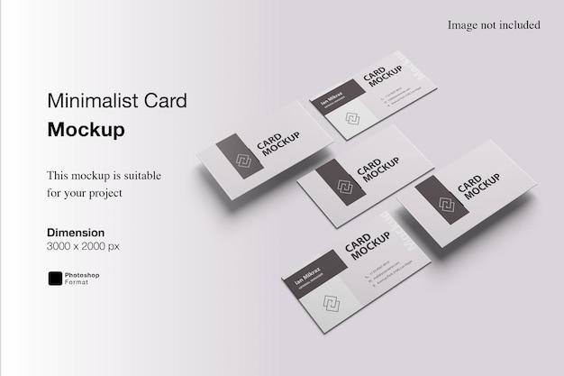 미니멀리스트 카드 목업 디자인
