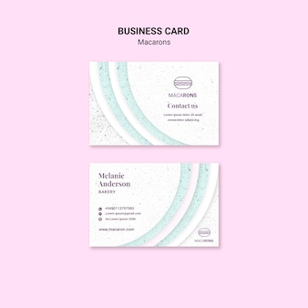 Minimalist concept for macarons business card