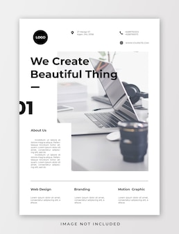 Minimalist corporate flyer template
