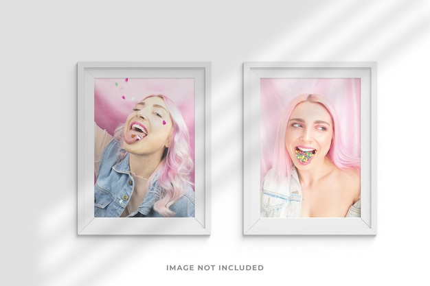 Minimalist and creative frames photo mockup