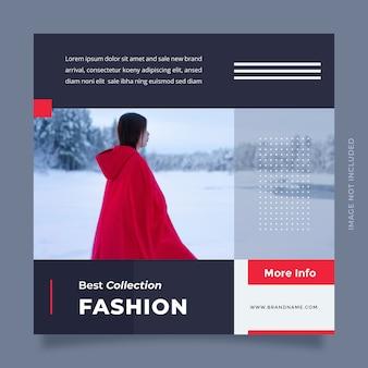 Минималистичный дизайн поста в социальных сетях и шаблона веб-баннера