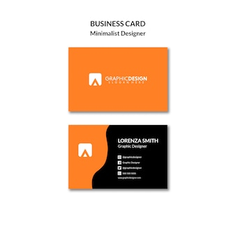 Minimalist designer business card template