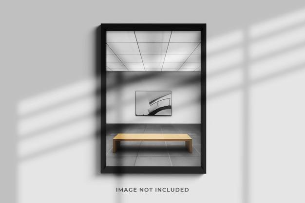 Minimalist and elegant frame photo mockup Premium Psd