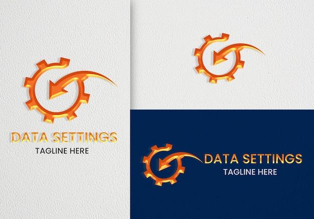 Минималистичный элегантный макет логотипа с штриховой графикой премиум psd