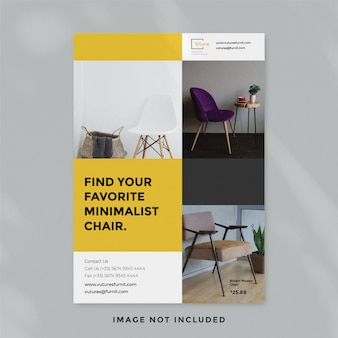 Minimalist furniture flyer template
