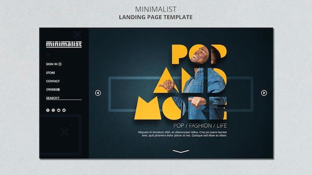 Modello di pagina di destinazione minimalista