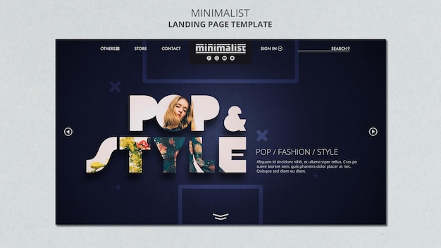 Minimalist landing page template