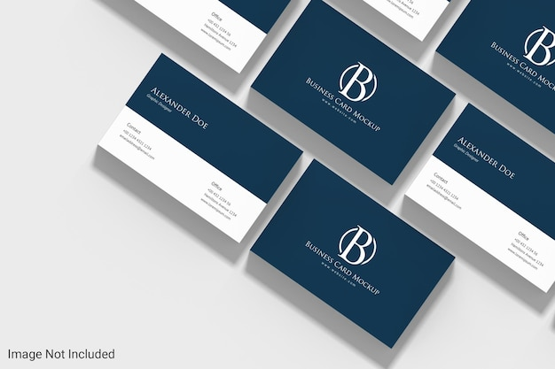 Minimalist landscape business card mockup design in 3d rendering