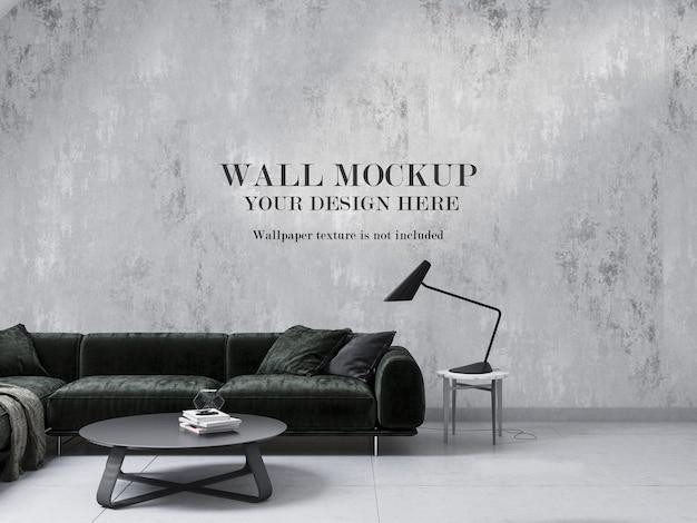 Minimalist living room mockup wall