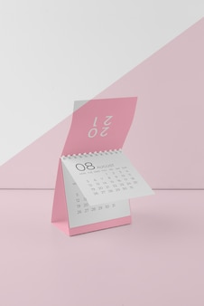 Минималистичный набор макетов календаря Бесплатные Psd