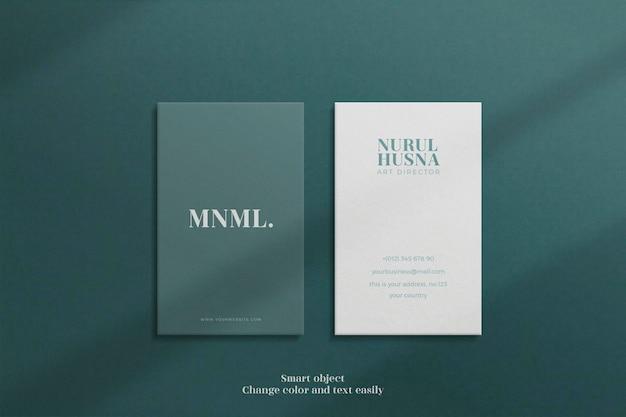 Minimalist and modern luxury or elegant vertical business card mockup