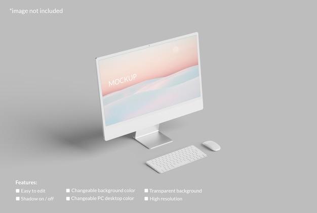 Минималистский макет экрана рабочего стола пк