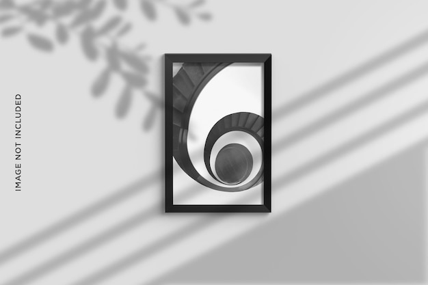 벽에 걸려 미니멀리스트 사진 프레임 모형 디자인