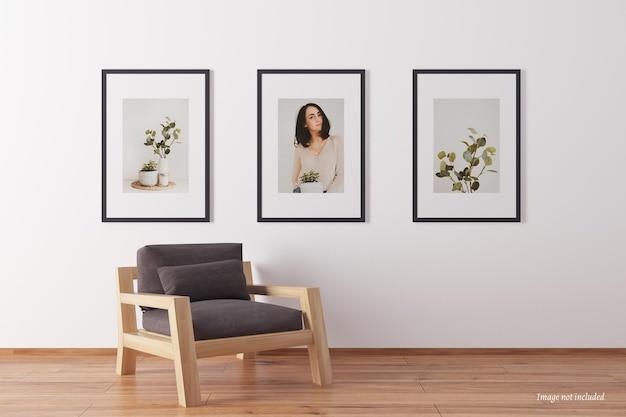 Минималистичные макеты портретной рамки