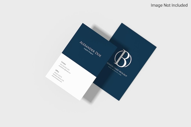 Minimalist potrait business card mockup design in 3d rendering