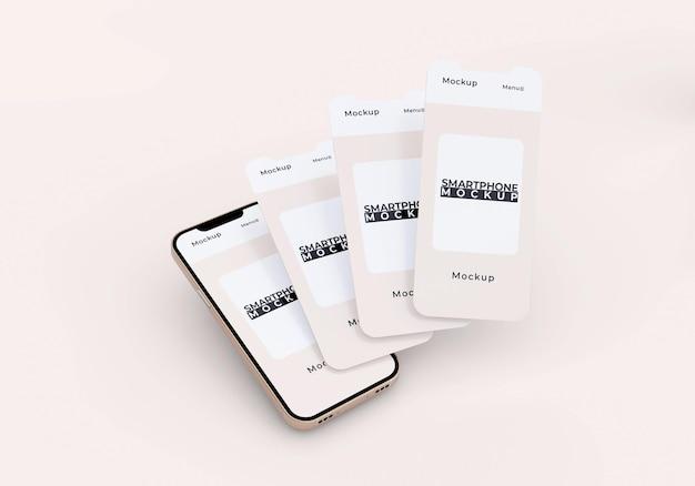 ミニマリストのシンプルな電話と画面のモックアップ