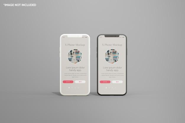 Минималистичный глиняный макет смартфона