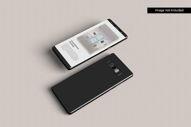 Minimalist smartphone mockup Premium Psd