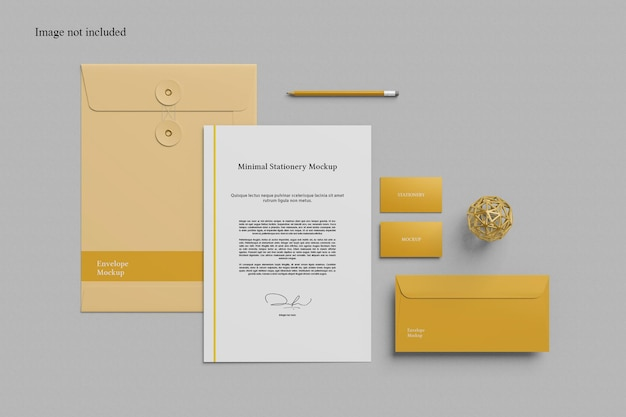 Minimalist stationery mockup for your brand