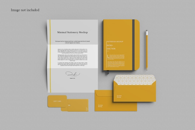 Minimalist stationery mockup for your corporate presentation