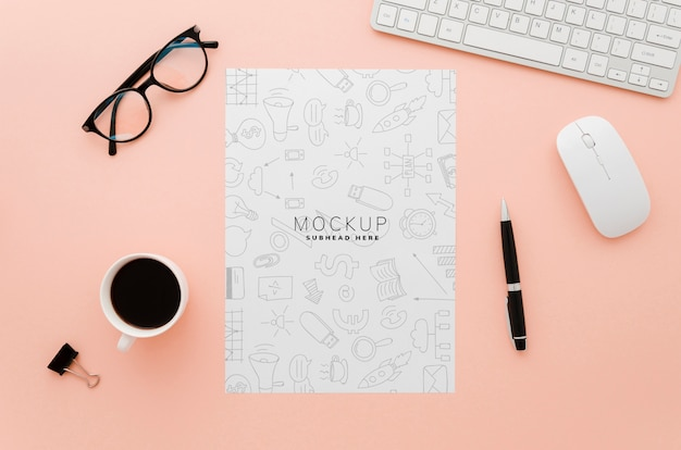 Minimalist stationery paper mock-up