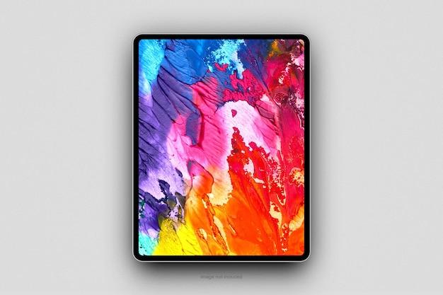 미니멀리스트 태블릿 모형 디자인 렌더링