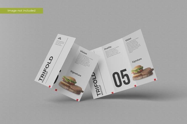 Minimalist trifold brochure mockup