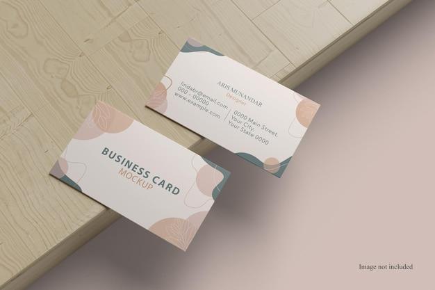 Минималистский макет двух визиток