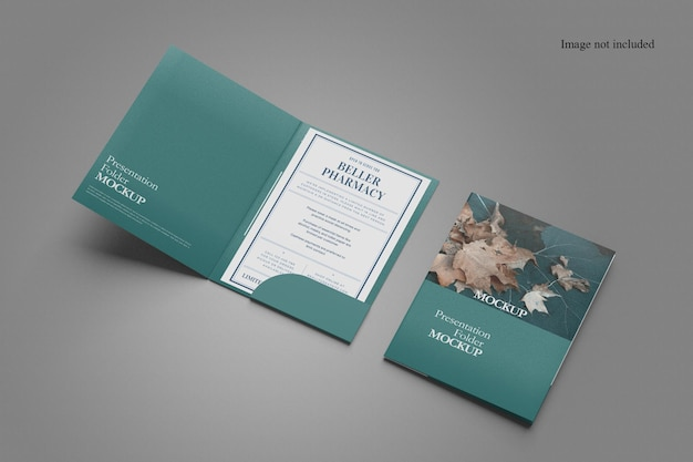 Minimalist two folder mockup design