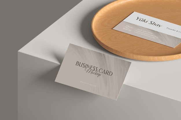 Minimalist visiting business card mockup Premium Psd