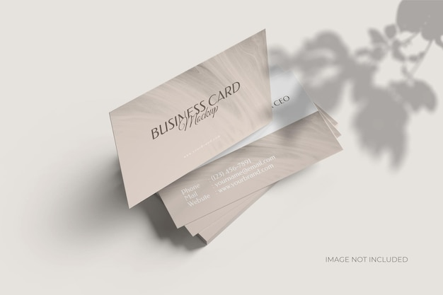 Minimalist visiting business card mockup