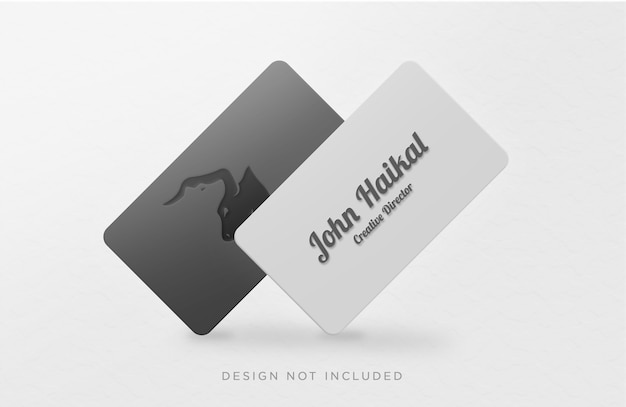 Minimalistic business card concept mockup