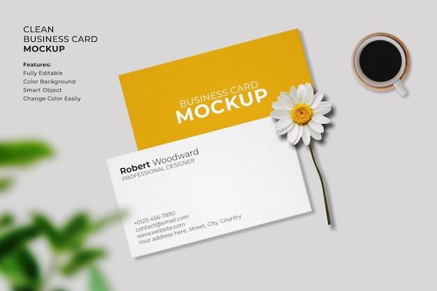 Minimalistic business card mockup