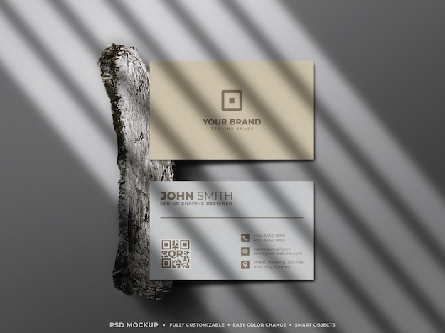 Minimalistic & clean composition of business card mockup
