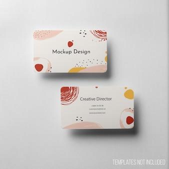 Composizione minimalista del mockup di biglietti da visita