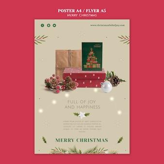 Modello minimalista di stampa natalizia festivo