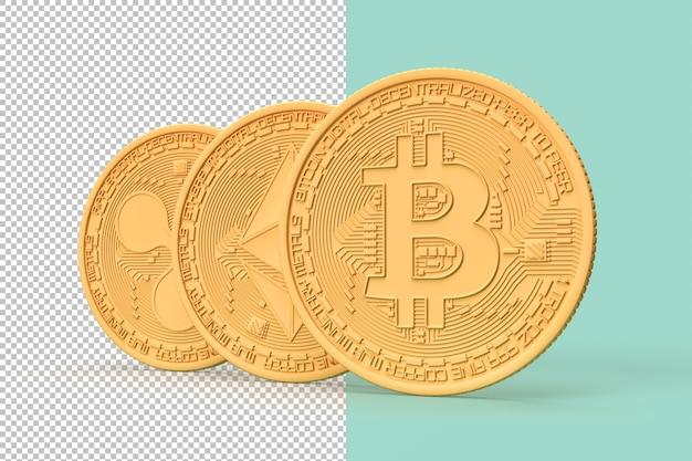 ミニマルなイラスト暗号通貨コイン