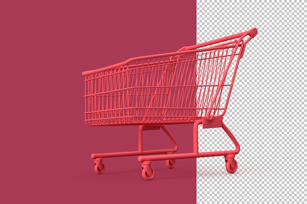 Minimalistic illustration of shopping cart